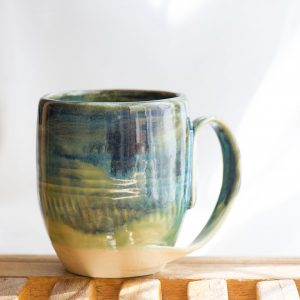 Blue Green Agate mug