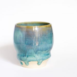 Drippy blue snug mug